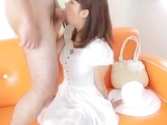 Horny Japanese chick Nozomi Aso in Fabulous Blowjob/Fera, Facial JAV scene