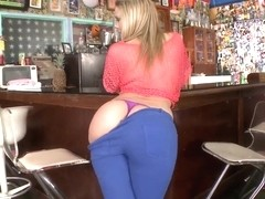 Blonde vixen Alexis Texas shows off her big, bountiful ass cheeks