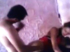 Skinny latina girl gets doggystyle and missionary fucked by a friend and blows his cock in an aban.