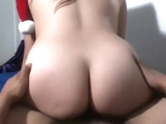 Santa'S Little Helper Rides His Cock