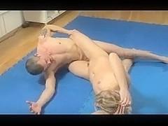 She wresteled beat and screwed him hard!