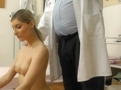 Trickled hidden webcam movie scene of euro golden-haired gyno exam