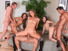 Zoey Foxx,Tegan Tate,Aiyana Flora,Mark Wood,Talon in Neighborhood Swingers #08, Scene #01