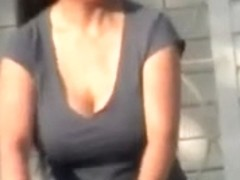 Candid Huge Tits Asian Mom