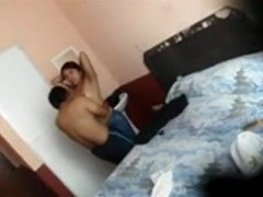 Dude sneakily tapes himself fucking a latina girl in a hotel