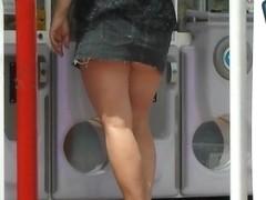 ass cheeks at outdoor arcade