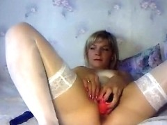 Stripping and toying my puss