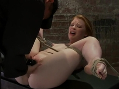 Huge Nipples Tied and Stretched. Double penetrated to Orgasm!