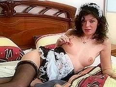 Seductive French Maid Teases Us!!!