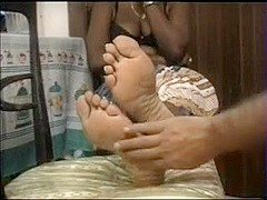 ebony's footworship and cook jerking