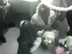 A voyeur crashes a wedding preparation with his hidden camera