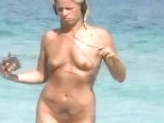 Smoking hot blonde nudist voyeur slut