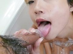 Fabulous Japanese chick Misaki Tanemura in Incredible JAV uncensored Blowjob video