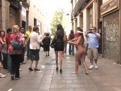 Fully Nude and Barefoot in Public