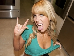 Lacey Gray Gets Down & Dirty In The Kitchen