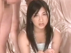 Fabulous Japanese whore Saori Hara in Crazy Gangbang, Handjobs JAV video