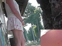 Public nude upskirt pics by an experienced voyeur