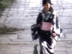 Mysterious sweet geisha is having unexpected sharking encounter with some fellow