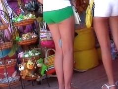 Blonde schoolgirl candid ass video