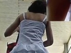 The most good upskirt white full back panty view