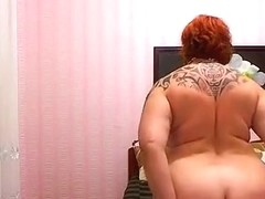 Redheaded fat woman-old woman
