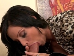 Sheila Grant pumps the pipe and gets the jizz