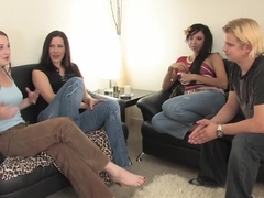 Best pornstars Betty Spanks, Sheila Faye and Alexandra Belle in exotic group sex, blonde porn video