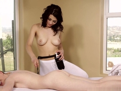 Hottest pornstars Raven Rockette, Marie McCray in Amazing Massage, Lesbian sex clip