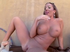 Big tits and big ass and she swallows