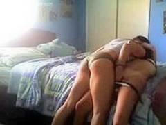lesbians have some fun in bed