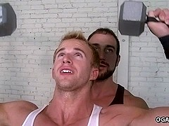 Men Sweat And Fuck In The Gym