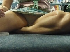 Hot MILF Upskirt in the Library - Part 2