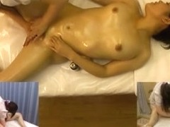 Japanese girl takes an oily massage s.ance