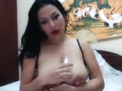 Brunette Georgy6988 shows her tits