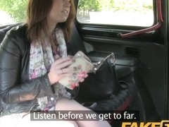 FakeTaxi: Youthful gal with large milk shakes suggests oral job instead of money