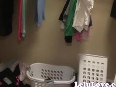 Lelu Love-Caught Undressing In Closet JOE