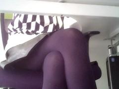 Office girl hot legs