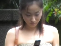 Glamorous oriental skank is really stunned during fast sharking action