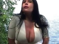 Lake Garde Public Blowjob - Outdoor Blowjob Handjob - Cum on my Tits