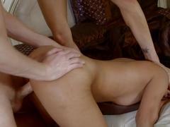 Incredible pornstars Miya Stone, Mark Wood in Exotic Threesomes, Big Tits adult movie