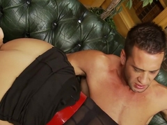 Crazy pornstar Anna Joy in exotic facial, lingerie xxx scene