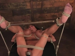 There are big tits and then there is MASSIVE!Welcome Lisa Lipps to her first bondage scene ever.