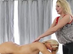 Best pornstars Tara Morgan and Jennifer Best in hottest lesbian, blonde xxx clip