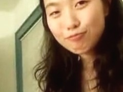 Hot Asian college girl making out with her boyfriend