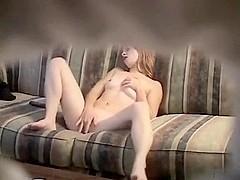 Hot  immature cums on hidden web camera