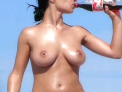 Spying on marvelous breasty playgirl