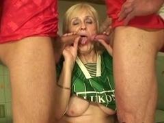 Granny fucks 2 guys