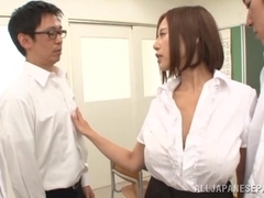 Sexy teacher Ruri Saijoh likes having sex at school