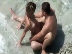 Hot couple fucking on the beach