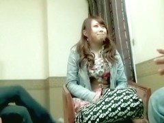 Nice Jap in stockings enjoys Japanese hardcore banging